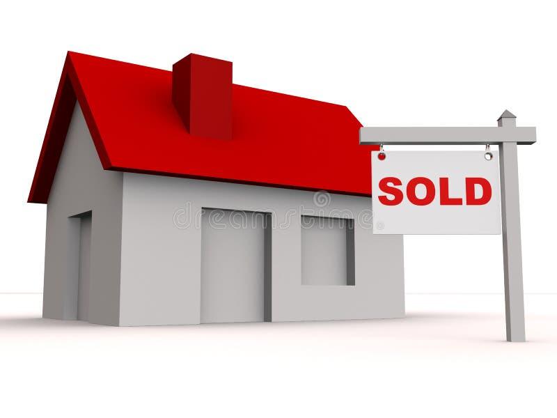 Maison vendue illustration libre de droits