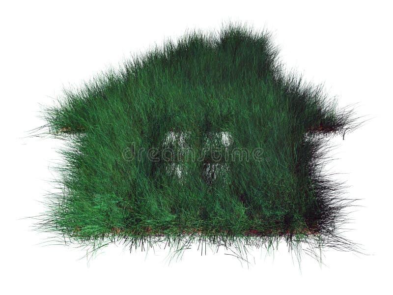 Maison verte illustration de vecteur
