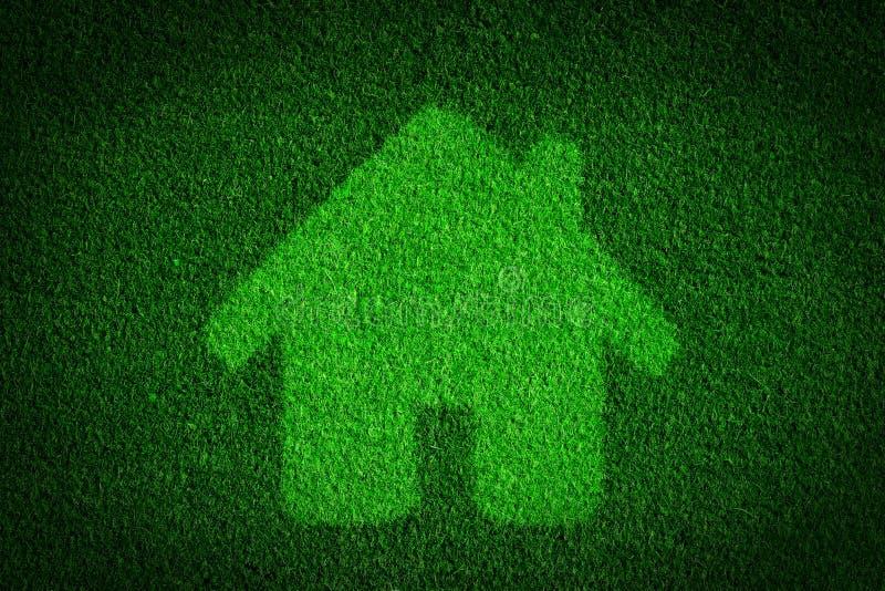 Maison verte et écologique, concept d'immobiliers images libres de droits