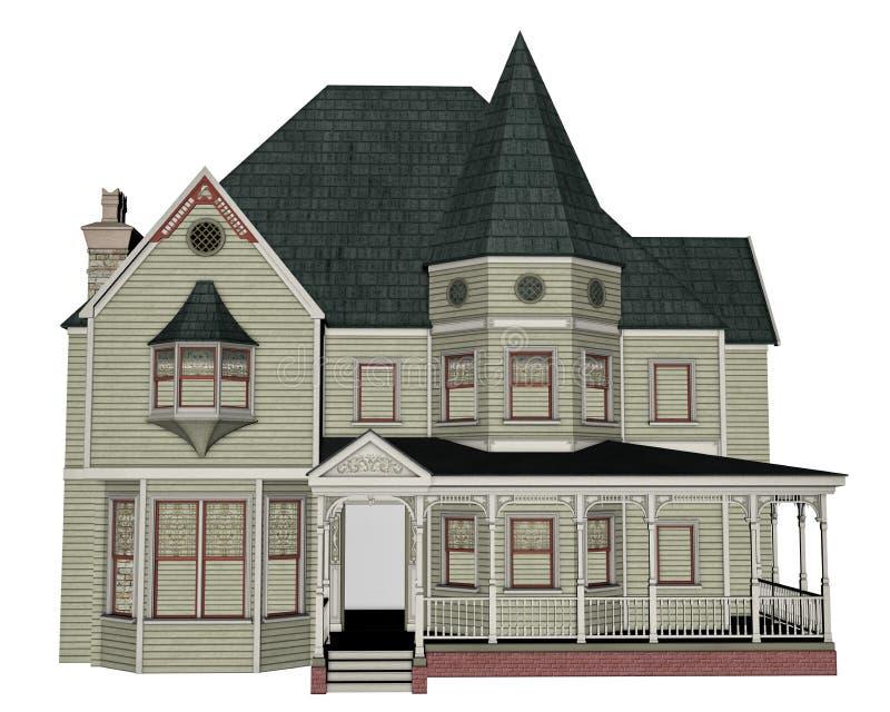 maison victorienne 3d rendent illustration stock illustration du entr e rendez 50577400. Black Bedroom Furniture Sets. Home Design Ideas