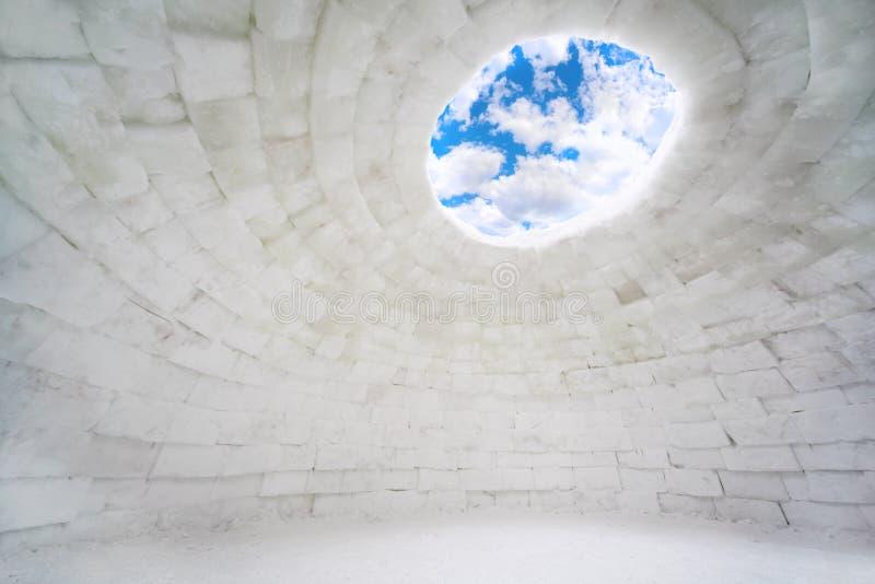 Maison vide intérieure de glace images stock