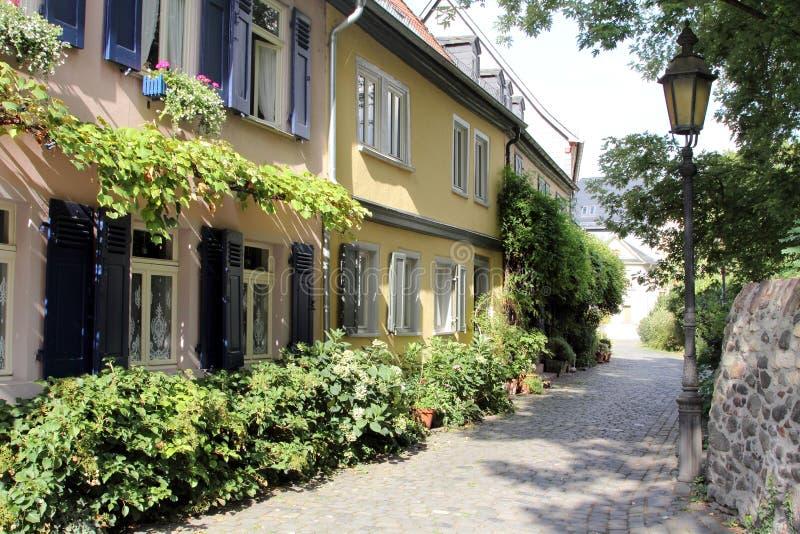 Maisons à colombage à Francfort sur Main photographie stock