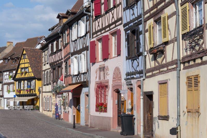 Maisons à colombage colorées dans petit Venise peu de secteur de Venise à Colmar, France image stock