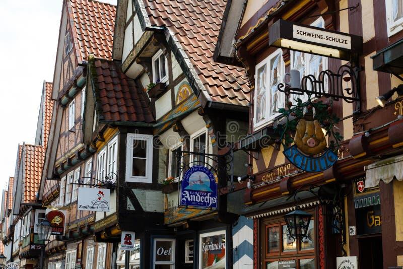 Maisons à colombage de Celle photographie stock libre de droits