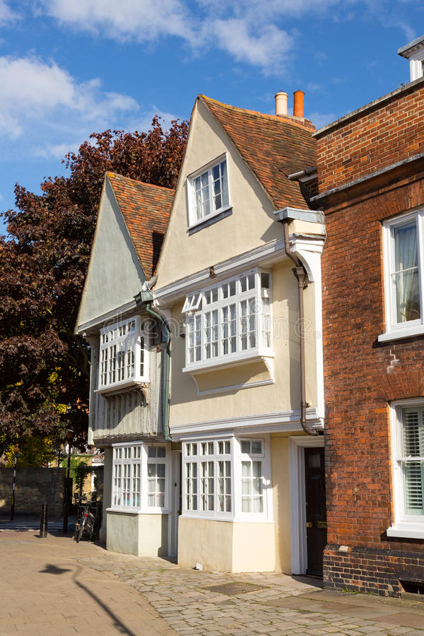 Maisons élisabéthaines dans Faversham Kent image stock