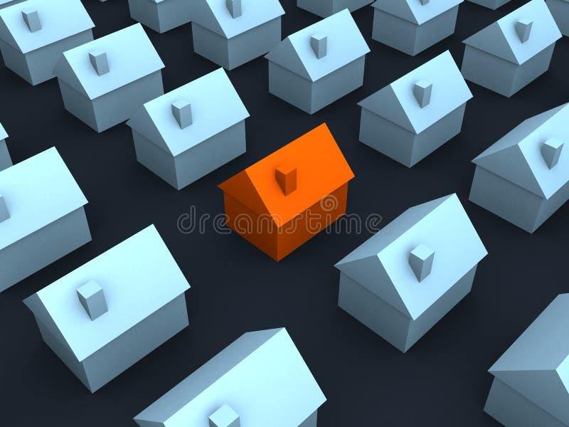 maisons 3d illustration de vecteur