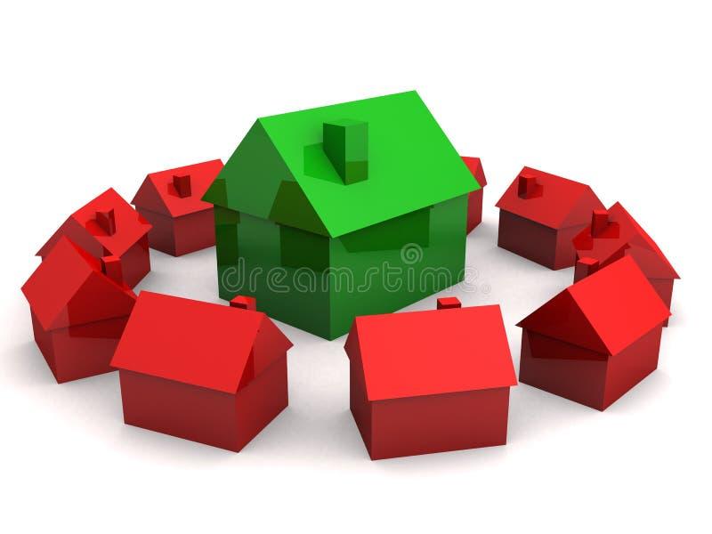 Maisons 3d simples illustration libre de droits