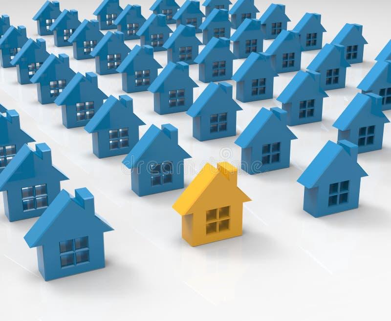 Download Maisons illustration stock. Illustration du hypothèque - 56490984