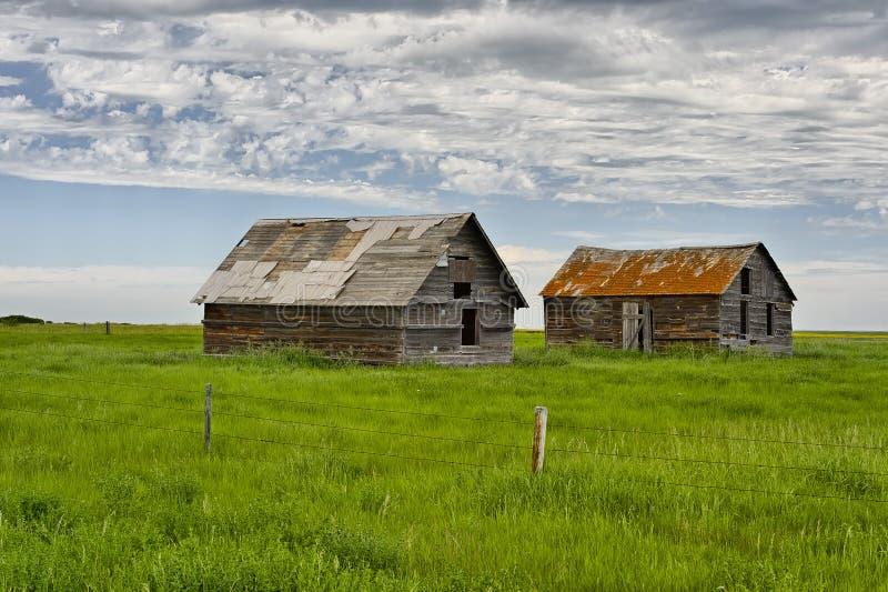 Maisons abandonnées en ville fantôme Dorothy photographie stock
