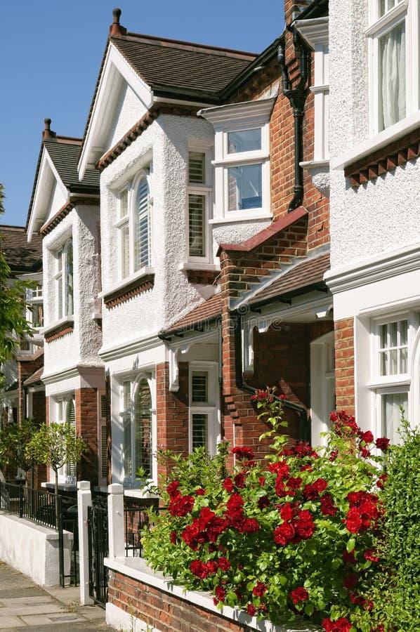 Maisons anglaises image stock