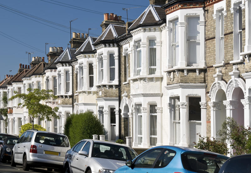 maisons anglaises photographie stock libre de droits