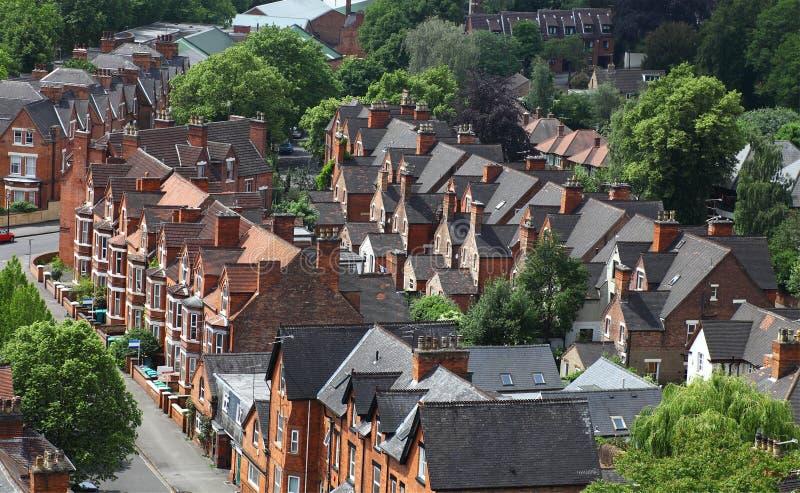 Maisons anglaises, Nottingham image libre de droits