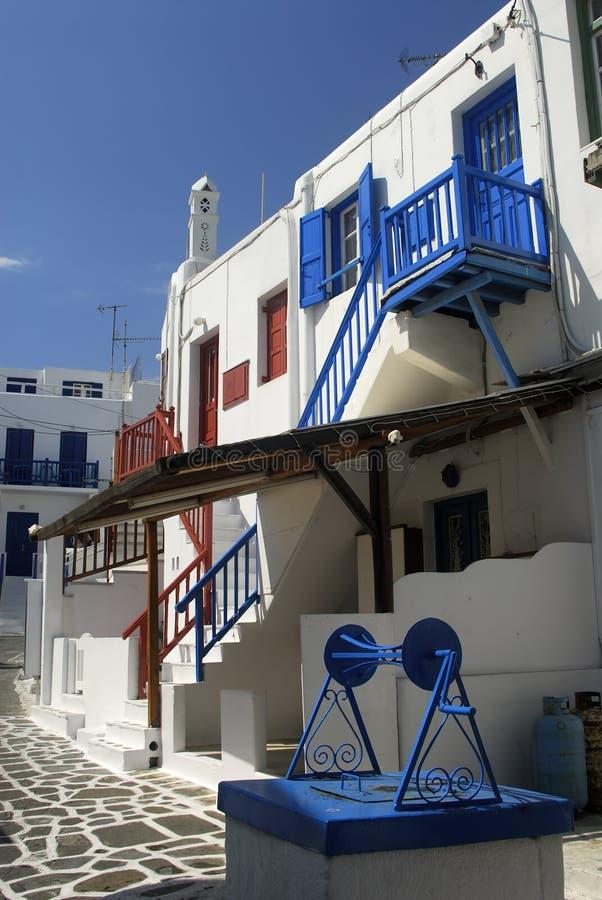 Maisons blanchies, Mykonos, Grèce photo libre de droits