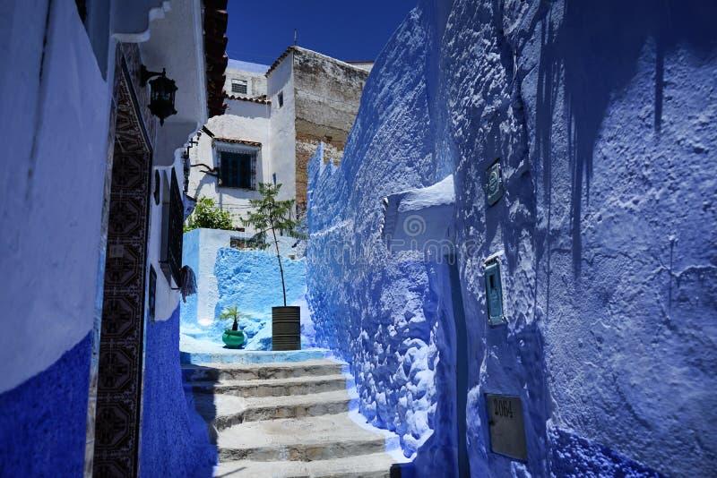 Maisons bleues en terrasse photos stock