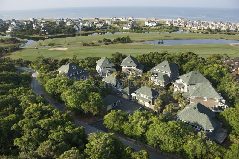 Maisons côtières. images stock