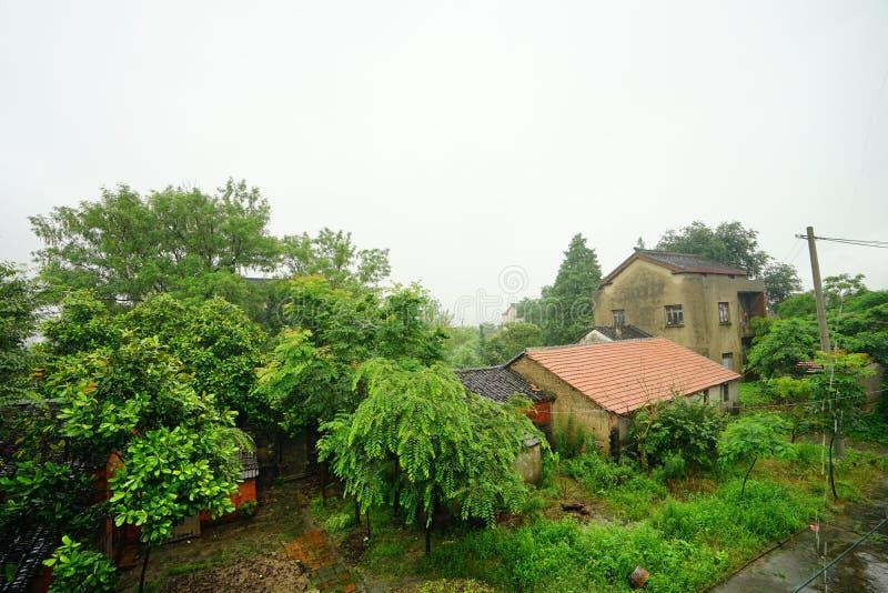 Maisons chinoises de village image libre de droits