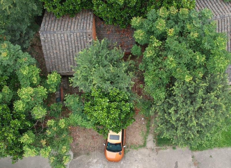 Maisons chinoises de village images stock