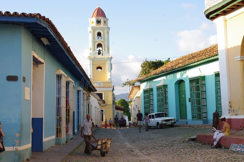 Maisons coloniales au Trinidad, Cuba image stock