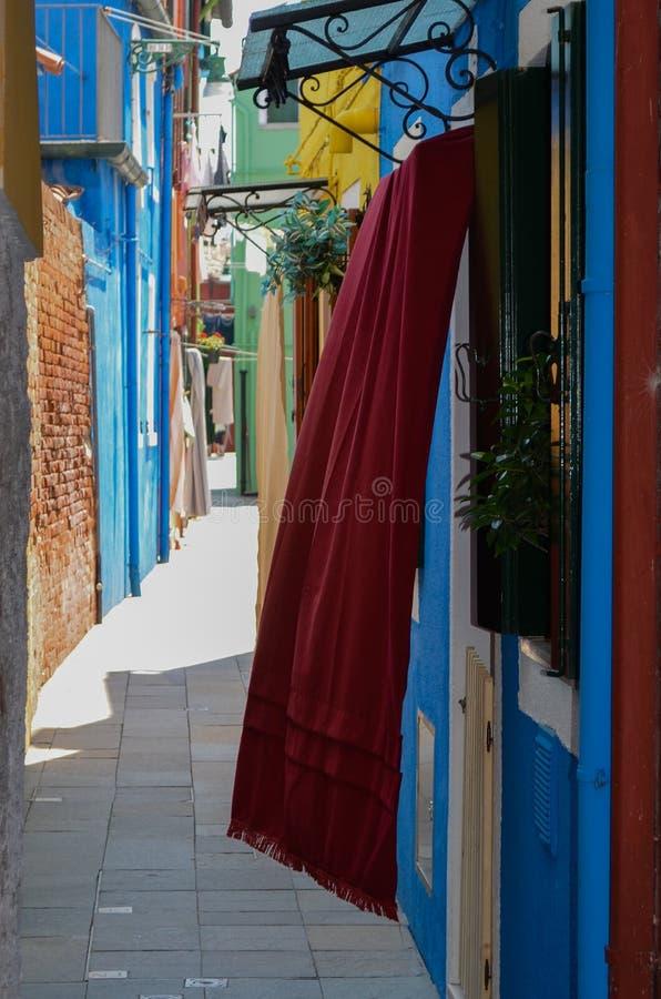 Maisons colorées à Venise Italie images libres de droits