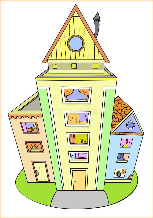 Maisons colorées illustration libre de droits