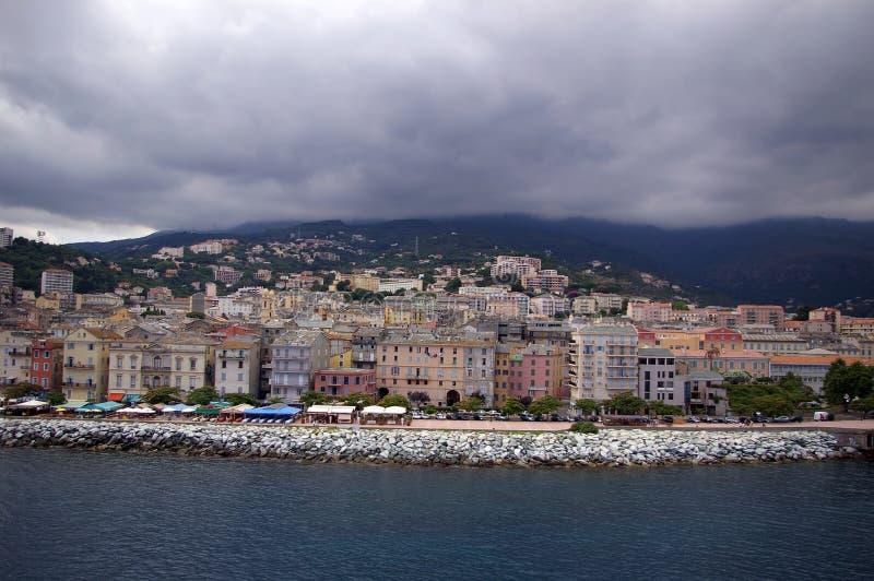 Maisons colorées de Bastia photo stock