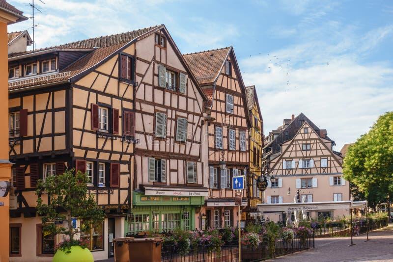 Maisons colorées de Colmar photos libres de droits