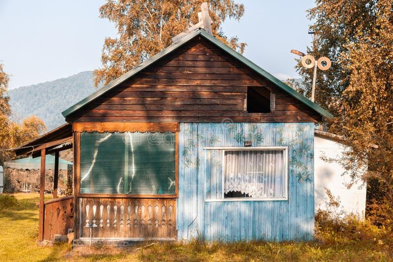Maisons d'Altai photo stock