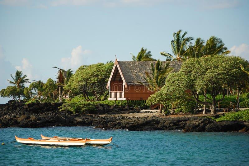 Maisons D Hawaï Sur La Grande île Photos libres de droits