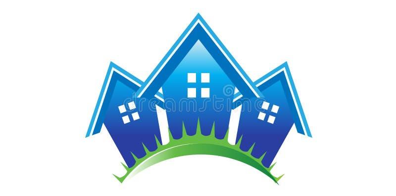 Maisons d'immeubles illustration stock