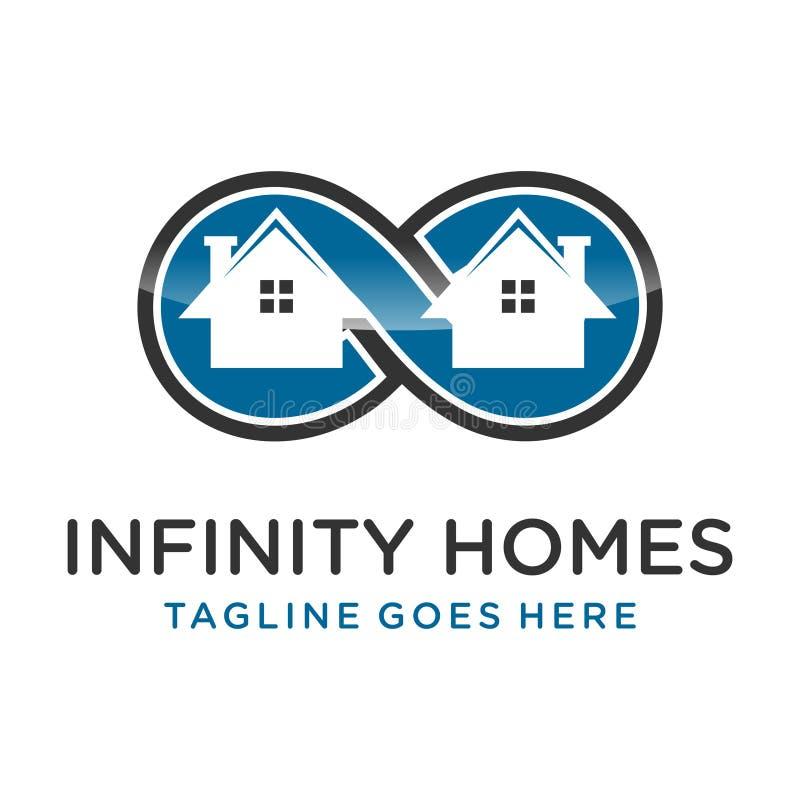 Maisons d'infini de logo illustration libre de droits