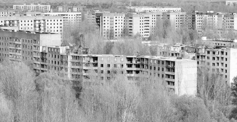Maisons de bloc abandonnées photo stock