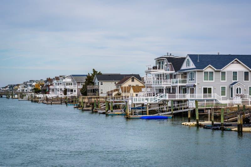 Maisons de bord de mer dans Avalon, New Jersey photo stock