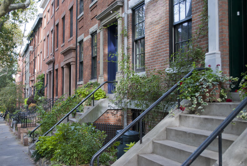 Maisons de Brooklyn images libres de droits