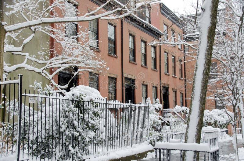 Maisons de Brooklyn photos libres de droits