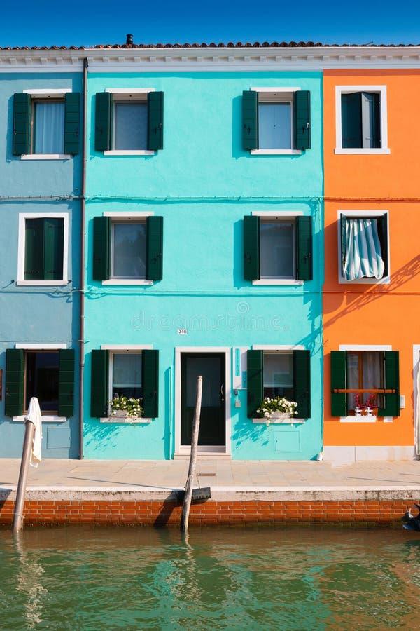 Maisons de Burano photo stock