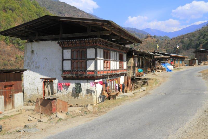 Maisons de campagne, Bhutan image stock