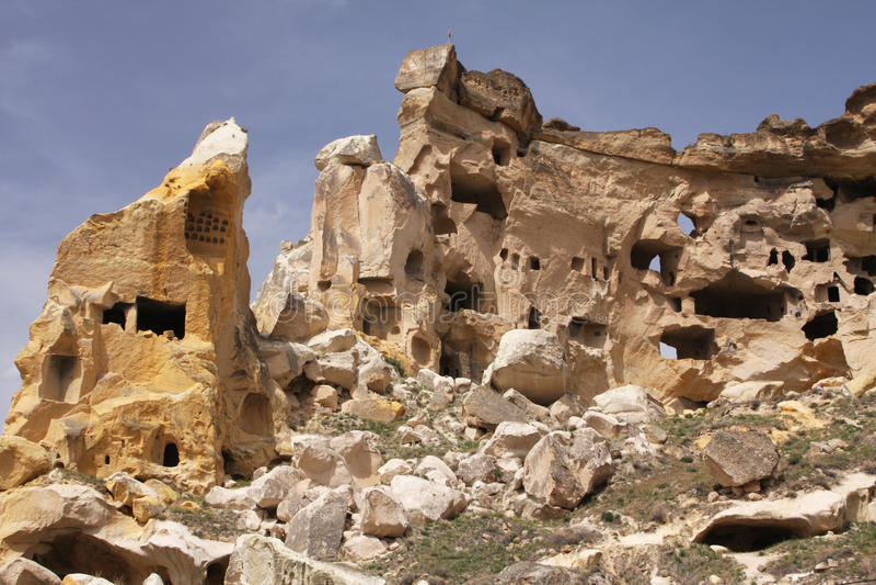 Maisons de caverne photographie stock