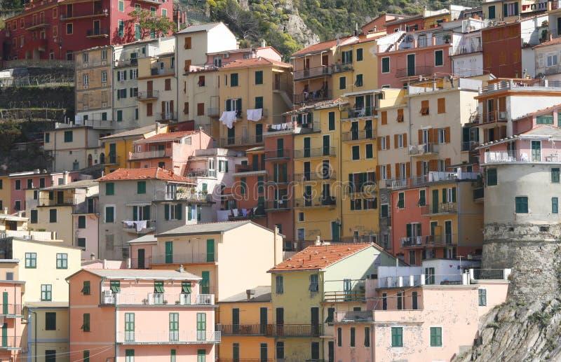 Maisons de Corniglia photos stock