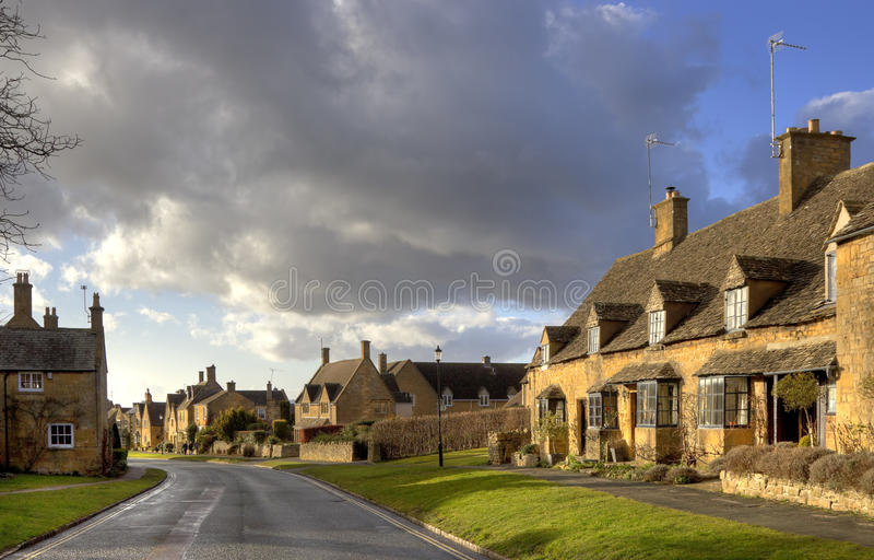 Maisons de Cotswold, Angleterre image stock