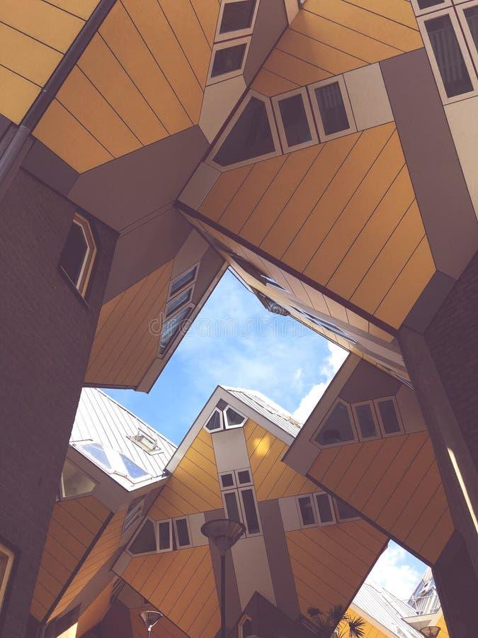 Maisons de cube photo libre de droits
