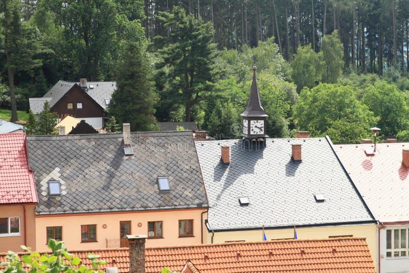 Maisons de famille dans Lipnice photos libres de droits
