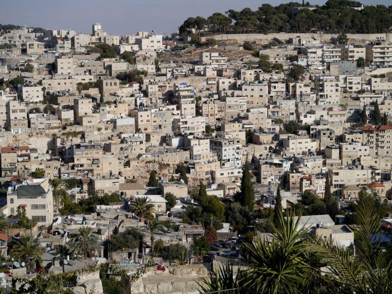 Maisons de flanc de coteau de Jérusalem photographie stock