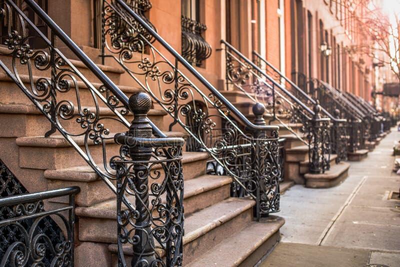 Maisons de grès à New York photo libre de droits