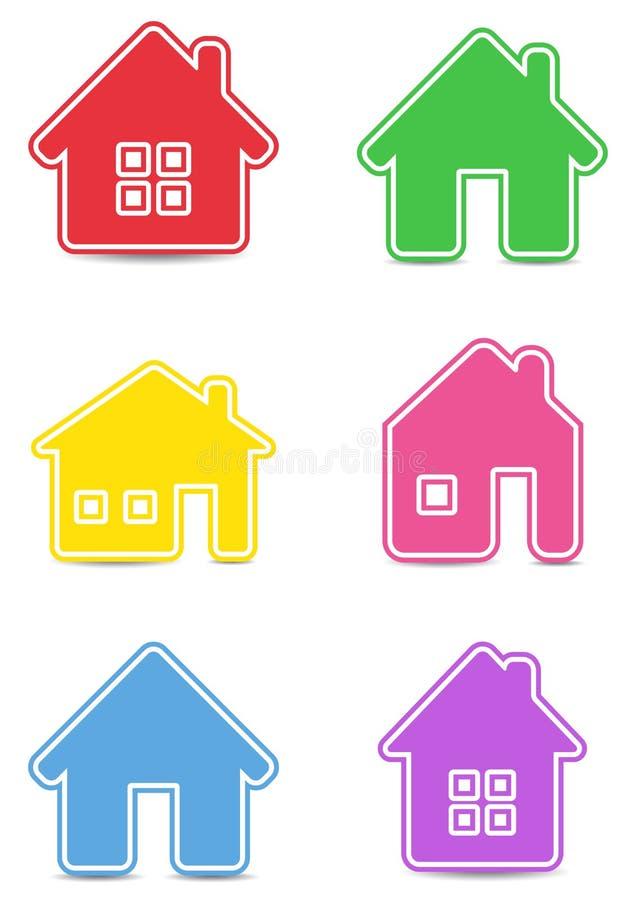 Maisons de graphisme illustration de vecteur