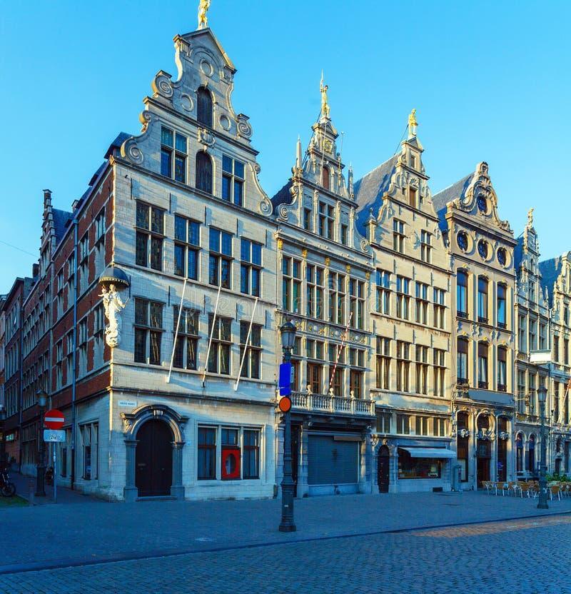 Maisons de guilde chez Grote Markt, Anvers, Belgique photographie stock libre de droits