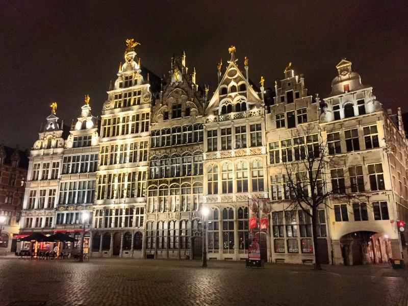 Maisons de guilde d'Anvers photographie stock libre de droits