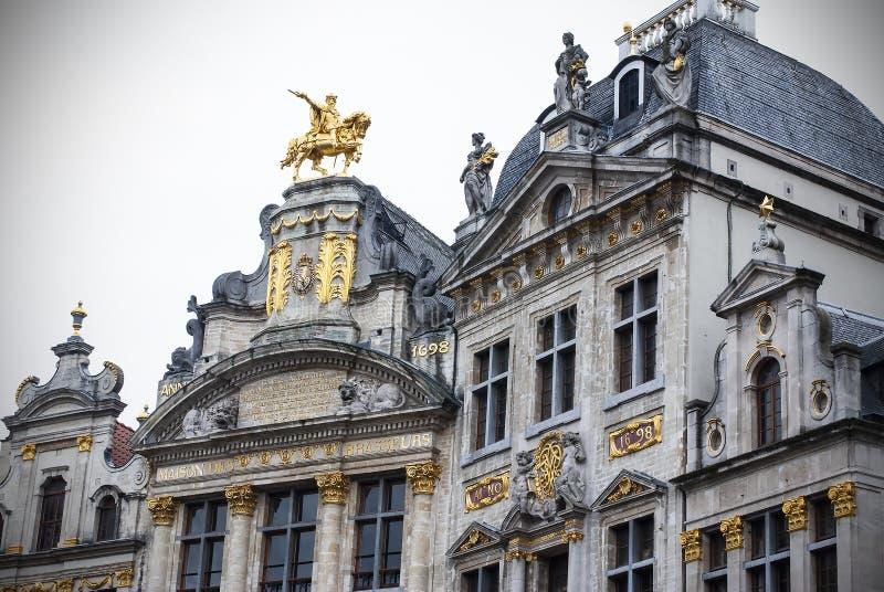 Maisons de guilde sur Grand Place, Bruxelles, Belgique photos stock