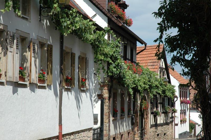 Maisons de Hambach photo libre de droits