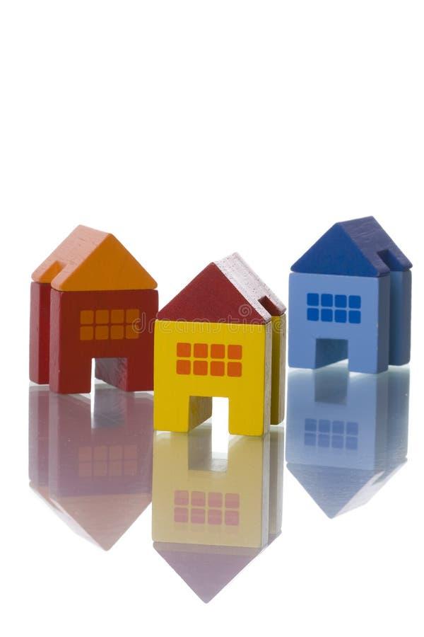 Maisons de jouet photographie stock