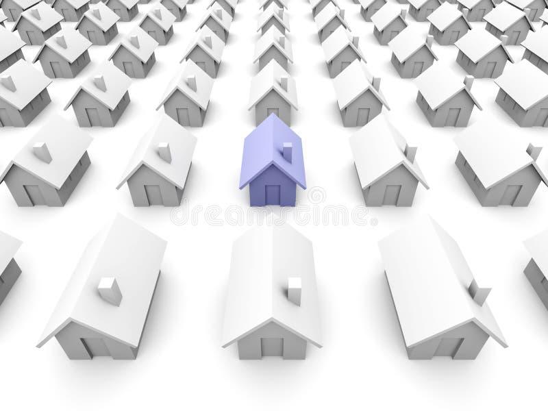 Maisons de jouet - on est bleu illustration stock